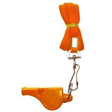Zeus Fußball Schiedsrichterpfeife Orange