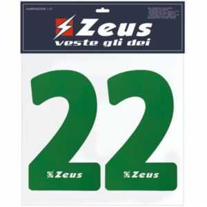 Zeus Nummern-Set 1-22 zum Aufbügeln 23cm Senior grün