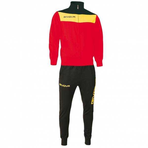 Givova Tuta Campo Trainingsanzug rot/gelb