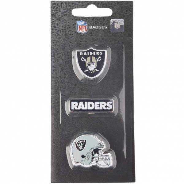 Oakland Raiders NFL Metall Pin Anstecker 3er-Set BDNFL3PKOR
