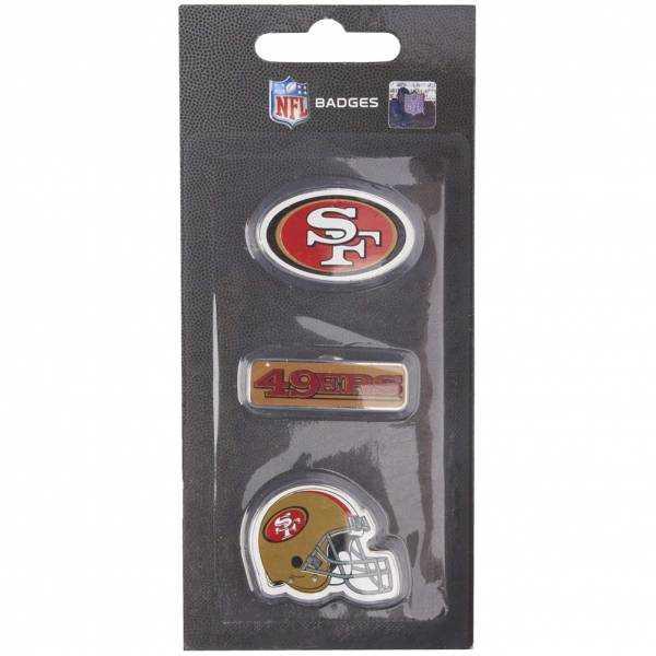 San Francisco 49ers NFL Metall Pin Anstecker 3er-Set BDNFL3PKSF