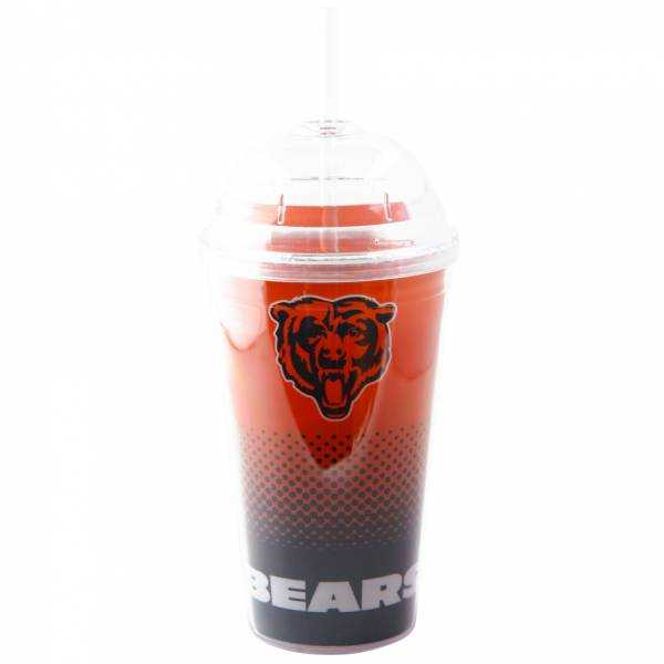 Chicago Bears NFL Fan Trinkbecher mit Trinkhalm DWNFLFADETSRCB