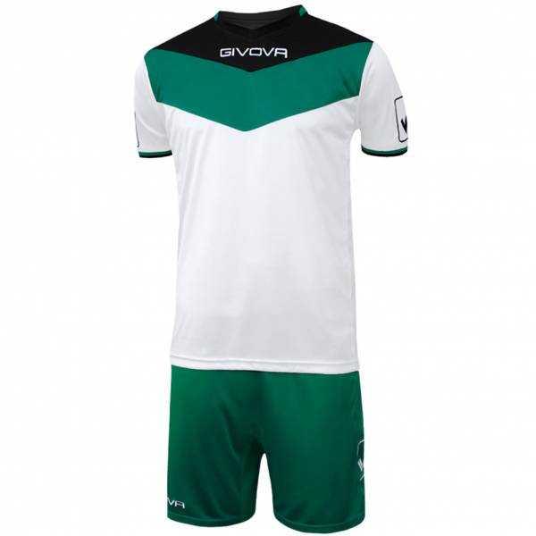 Givova Kit Campo Set Trikot + Shorts schwarz/grün